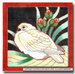 M-413 White Dove 9 x 9 14 Mesh Shorebird Studio