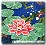 M-408 Squares: Water Lily 9 x 9 14 Mesh Shorebird Studio