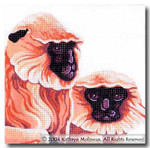 M-404 Squares: Langur Monkeys 9 x 9 14 Mesh Shorebird Studio