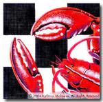 M-401 Squares: Lobster 9 x 9 14 Mesh Shorebird Studio