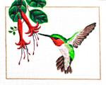 M-400 Ruby Throated Hummingbird 10 x  8 18 Mesh Shorebird Studio