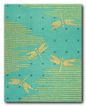 M-354a Green/Gold Dragonfly Bolster 18.5 x 23 13 Mesh Shorebird Studio