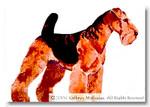PW-231 Welsh Terrier (Airedale) 26 x 26 13 Mesh Shorebird Studio