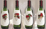 781209 Permin Christmas Bottle Aprons (4pcs)