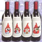 788533 Permin Christmas Bottle Aprons (4pcs)