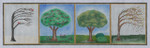 BB40 4 Season Trees BB Needlepoint Designs 18 Mesh  6x15 With Stitch Guide