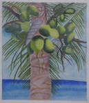 BB30 Palm Tree BB Needlepoint Designs 18 Mesh 10x14