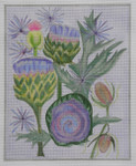 BB46 Artichoke  BB Needlepoint Designs 18 Mesh  With Stitch Guide 9x12