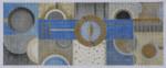 BB41 Blue Geo Quilt BB Needlepoint Designs 18 Mesh  8x8 7x15