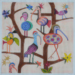 BB63 Cuckoo Birds BB Needlepoint Designs 18 Mesh  3 x 4