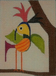 BB63A Yellow bird  BB Needlepoint Designs 18 Mesh  3 x 4 With Stitch Guide