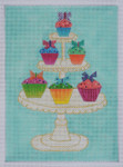 BB94 Cupcakes Cake BB Needlepoint Designs 18 Mesh 7x9