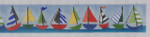 BE3 Sailboats Belt BB Needlepoint Designs 18 Mesh