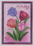 SP3 Tulip BB Needlepoint Designs 18 Mesh  Shown Right 3x5