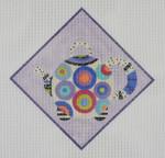 TP5 Circles Teapot  BB Needlepoint Designs 18 Mesh