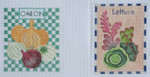 "SP18 Onions BB Needlepoint Designs  18 Mesh Shown Left  3""x4"""