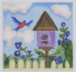 BH3 Bluebird House BB Needlepoint Designs  18 Mesh   4x4