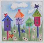 BH4 Butterfly House BB Needlepoint Designs  18 Mesh   4x4