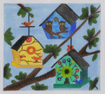 BH6 Owl House BB Needlepoint Designs  18 Mesh   4x4