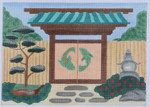 GG2 Zen Garden Gate BB Needlepoint Designs  18 Mesh   5x7 With Stitch Guide