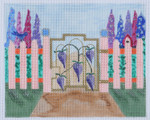 GG3 Wisteria Garden Gate BB Needlepoint Designs  18 Mesh   4x6 With Stitch Guide