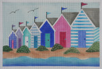 "BB111 Beach Houses BB Needlepoint Designs 18 Mesh 9"" x 7"""