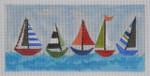 BB93 Sailboats wallet  BB Needlepoint Designs 18 Mesh
