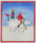 BBT6 Frosty and Santa BB Needlepoint Designs 18 Mesh 3x5 With Stitch Guide