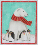 BBT7 Frosty and Penguins BB Needlepoint Designs 18 Mesh 3x5