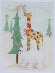 BBT8 Giraffe BB Needlepoint Designs 18 Mesh 3x5