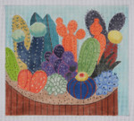 "BB116 Dish of Cacti BB Needlepoint Designs 18 Mesh 9"" x 9"""