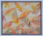 "BB117 Quilt of Leaves BB Needlepoint Designs 18 Mesh 10"" x 9"""