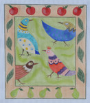 "BB118 Funky Chickens BB Needlepoint Designs 18 Mesh 8"" x 10"""