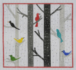 "BBT14 Winter Birds BB Needlepoint Designs 18 Mesh 10"" square"