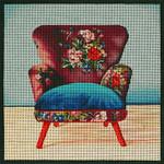 1076a Boho Mauve Chair 9x9 18 Mesh Lani Enterprises