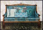 1075b Teal Couch 9x13 18 Mesh Lani Enterprises