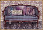 1075a Purple Couch 9x13 18 Mesh Lani Enterprises