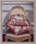 1073a Gold Chair with Pillows 8x10 18 Mesh Lani Enterprises