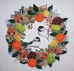B372 Melissa Prince 14 x 14 Chicadees/Winter Wreath