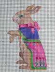 EA62 Royal Spring Bunny 6x4 Nenah Stone Designs 18 Mesh
