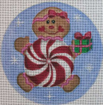 "CH98 Peppermint Gingerbread 5"" Round Nenah Stone Designs 18 Mesh"