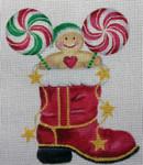 CH97 Santa's Candy Boot 7x6 Nenah Stone Designs 18 Mesh