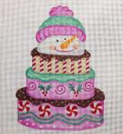 CH95 Snowman Cake 7x5 Nenah Stone Designs 18 Mesh