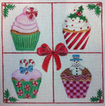 CH120 Christmas Cupcakes 8x8 Nenah Stone Designs 18 Mesh