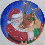 "CH155 Santa's Favorite 6"" Round Nenah Stone Designs 18 Mesh"