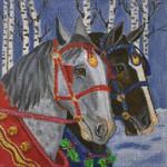 CH154 Sleigh Horses 6x6 Nenah Stone Designs 18 Mesh