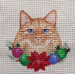 "CH132 Christmas Garland Cat 6"" Round Nenah Stone Designs 18 Mesh"