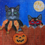 HW140 Treats Please 9x9 Nenah Stone Designs 18 Mesh Cats