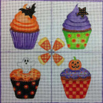 HW138 Halloween Cupcakes 8x8 Nenah Stone Designs 18 Mesh