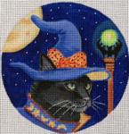 "HW135 Wizard Cat 6"" Round  Nenah Stone Designs 18 Mesh"